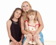 Free Three Girls Lying Stock Image - 20337351