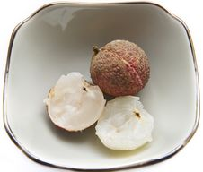 Seedless Litchi Chinensis Royalty Free Stock Image