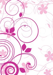Floral Abstract Design Element Stock Images