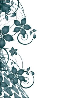 Floral Abstract Design Element Stock Image