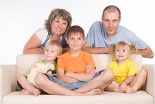 Family On Sofa Royalty Free Stock Photos