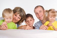 Free Nice Family Drawing Stock Photo - 20337480