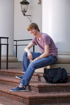 Young Male Student Royalty Free Stock Photo