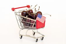 Free Cherry In A Cart Royalty Free Stock Photo - 20339045
