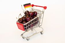 Free Cherry In A Cart Royalty Free Stock Photos - 20339048