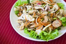 Free Thai Style Salad Seafood Royalty Free Stock Images - 20339079