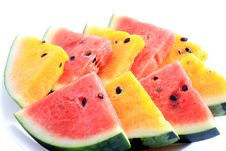 Free Slices Of Fresh Watermelon Fruit Stock Photography - 20339242