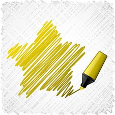 Free Drawing Yellow Five-star. Stock Images - 20339804