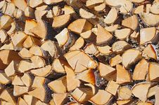 Free Pile Of Birch Firewood Royalty Free Stock Images - 20339939