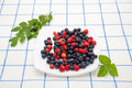 Free Berry Mix With Greens Stock Photos - 20342873