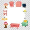 Free Cartoon Furniture Card Stock Image - 20344401