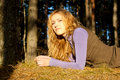 Free Girl Lies At The Grass Stock Photography - 20345002