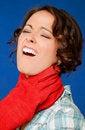 Free Woman Pain Strangled Throat Stock Image - 20345481