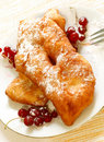 Free Homemade Pie With Powdered Sugar And Berrys Stock Photo - 20349410