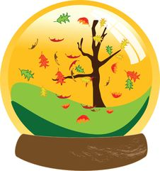 Autumn Snow Globe Royalty Free Stock Photo