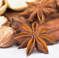 Free Anise And Cinnamon On White Stock Image - 20340421