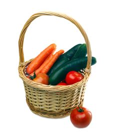 Free Vegetables In Wicker Basket Royalty Free Stock Photo - 20342205