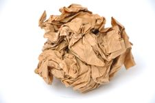 Free Brown Crumpled Paper Ball Stock Photo - 20343020