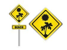 Free Beach Sign Stock Photos - 20343493