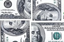 Free Four One Hundred Dollar Bills. Stock Photography - 20344312