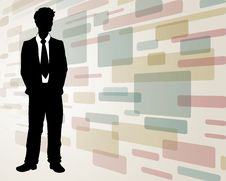 Free Business Man On Abstract Background Stock Photo - 20344650