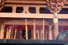 Free Burning Incense,temple Royalty Free Stock Image - 20345036