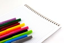 Free Markers On Notebook Royalty Free Stock Photo - 20346425