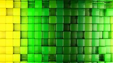Free 3D Cube World Green Background Stock Images - 20346824