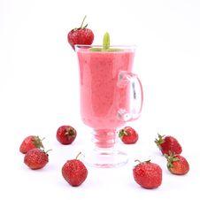 Free Strawberry Shake Royalty Free Stock Images - 20346839