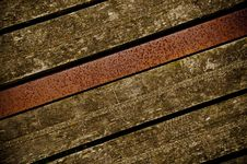 Free Old Wooden Boards With Metal Beam Royalty Free Stock Image - 20346926