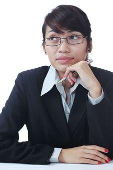 Free Thinking Businesswoman Royalty Free Stock Photos - 20347318
