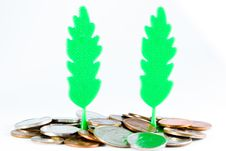 Free Plastic Trees And Money. Royalty Free Stock Photos - 20347698
