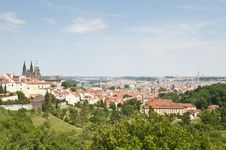 Prague Skyline From Petrin Hill Stock Images