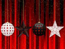 Free Black And White Christmas Baubles Royalty Free Stock Photography - 20348397