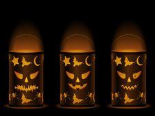 Free Halloween Lanterns Royalty Free Stock Image - 20348426