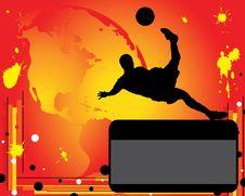 Free Advertising Of Football Royalty Free Stock Photos - 20348948