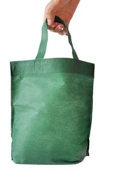 Free Green Shopping Bag Royalty Free Stock Images - 20349029