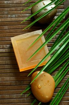 Free Spa Composition Of Natural Soap And Stones Royalty Free Stock Photography - 20349557