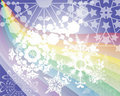 Free Rainbow S Snow Flakes Royalty Free Stock Photography - 20350597