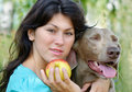 Free Young Woman And Dog Stock Photos - 20351813