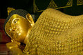 Free Golden Buddha In Sleeping Posture Royalty Free Stock Photography - 20352377