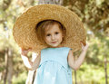 Free Cute Little Girl Smiling In A Park Stock Images - 20357754