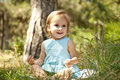 Free Cute Little Girl Smiling In A Park Stock Photography - 20357772