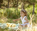Free Cute Little Girl Smiling In A Park Royalty Free Stock Images - 20357839