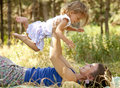 Free Little Girl And Mother In The Park Royalty Free Stock Photo - 20357855