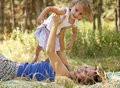 Free Little Girl And Mother In The Park Stock Photography - 20357872