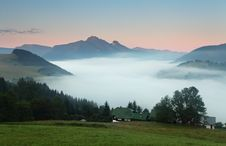 Free Beautiful Summer Mountains Landscape With Mist Royalty Free Stock Photo - 20350375
