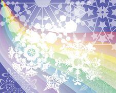 Free Rainbow S Snow Flakes Royalty Free Stock Photography - 20350597
