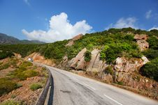 Free Rock Cliff Paved Road In Corsica Royalty Free Stock Photo - 20351085