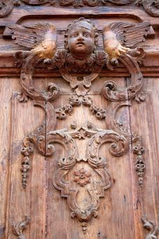 Free Old Carved Wooden Door Royalty Free Stock Image - 20351256